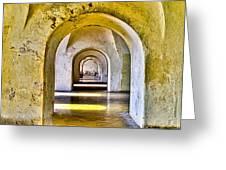 Tunnelvision Greeting Card by Dado Molina