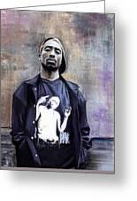 Tupac Shakur Greeting Card by Raymond L Warfield jr