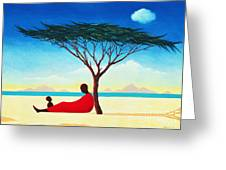 Turkana Afternoon Greeting Card by Tilly Willis