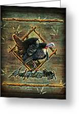 Turkey Lodge Greeting Card by JQ Licensing