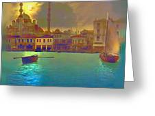 Turkish  Moonlight Greeting Card by Saiyyidah Seema  Z