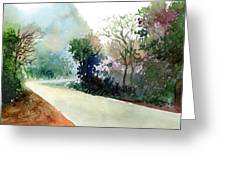 Turn Right Greeting Card by Anil Nene