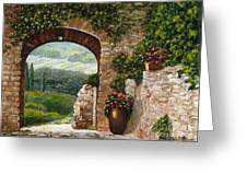 Tuscan Arch Greeting Card by Italian Art