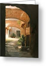 Tuscan Arches Greeting Card by Anna Bain