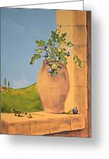 Tuscan Figs Greeting Card by Yvonne Ayoub