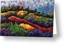 Tuscan Hills At Sunset Greeting Card by Shawna Elliott