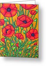 Tuscan Poppies - Crop 2 Greeting Card by Lisa  Lorenz
