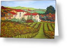 Tuscany Greeting Card by Amanda Schambon