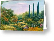 Tuscany Atmosphere Greeting Card by Hannibal Mane