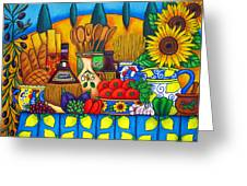 Tuscany Delights Greeting Card by Lisa  Lorenz