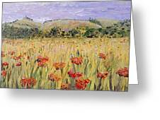 Tuscany Poppies Greeting Card by Nadine Rippelmeyer