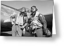 Tuskegee Airmen Greeting Card by War Is Hell Store