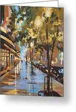 Twenty One East Hubbard Street Chicago Greeting Card by Sandra Strohschein