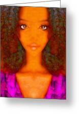Twiggy Greeting Card by Devalyn Marshall