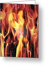 Twin Flames Greeting Card by Dedric Whittington