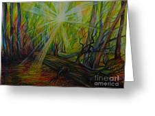 Twinkle Twinkle Autumn Light Greeting Card by Anna  Duyunova