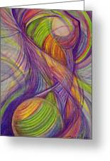 Twist Greeting Card by Caroline Czelatko