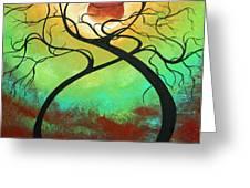 Twisting Love II Original Painting by MADART Greeting Card by Megan Duncanson