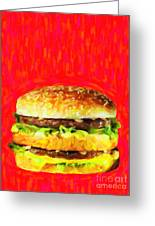 Two All Beef Patties Greeting Card by Wingsdomain Art and Photography