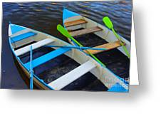 Two Boats Greeting Card by Carlos Caetano