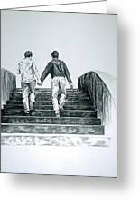 Two Boys Greeting Card by Rene Capone