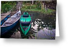 Two Canoes Greeting Card by Douglas Barnett
