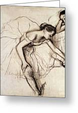 Two Dancers Resting Greeting Card by Edgar Degas
