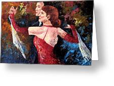 Two To Tango Greeting Card by David G Paul