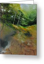 Two Trees In Light Greeting Card by Harry Robertson