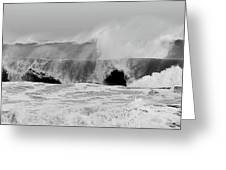 Two Waves Are Better Than One - Jersey Shore Greeting Card by Angie Tirado