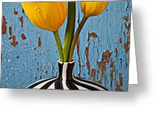Two Yellow Tulips Greeting Card by Garry Gay