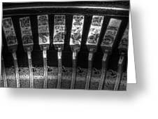 Typewriter Keys Greeting Card by Tom Mc Nemar