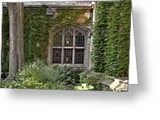 U Of M Halls Of Ivy Greeting Card by Richard Gregurich
