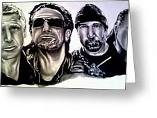 U2 Greeting Card by Pauline Murphy