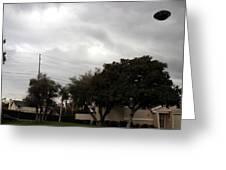 Ufo Over My Neighborhood  Greeting Card by Michael Ledray