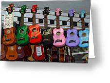 Ukeleles For Sale Greeting Card by Suzanne Gaff