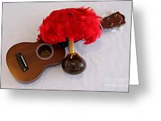 Ukulele and UliUli Greeting Card by Mary Deal