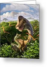 Ultrasaurus Greeting Card by Jerry LoFaro