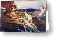Ulysses And The Sirens Greeting Card by Herbert James Draper