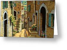 Un Passaggio Tra Le Case Greeting Card by Guido Borelli