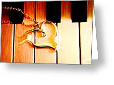 Unchained Melody Greeting Card by Linda Sannuti