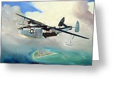 Uncle Bubba's Flying Boat Greeting Card by Marc Stewart