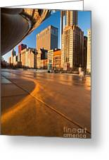 Under The Bean And Chicago Skyline At Sunrise Greeting Card by Sven Brogren