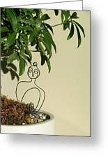 Under The Bodhi Tree Greeting Card by Live Wire Spirit