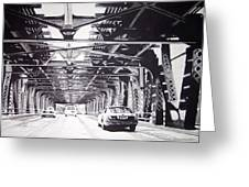 Under The El Greeting Card by Scott Robinson