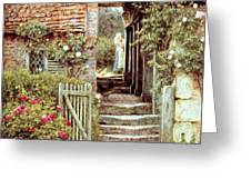 Under the Old Malthouse Hambledon Surrey Greeting Card by Helen Allingham