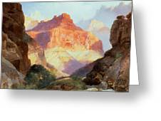Under The Red Wall Greeting Card by Thomas Moran