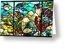 Under The Sea - Stained Glass Greeting Card by Bill Cannon