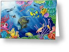 Undersea Garden Greeting Card by Gale Cochran-Smith