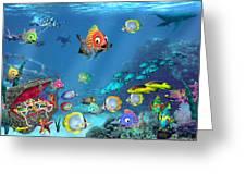 Underwater Fantasy Greeting Card by Doug Kreuger